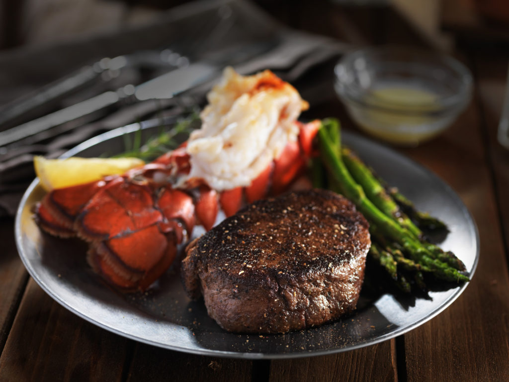 Lobster with Beef Steak