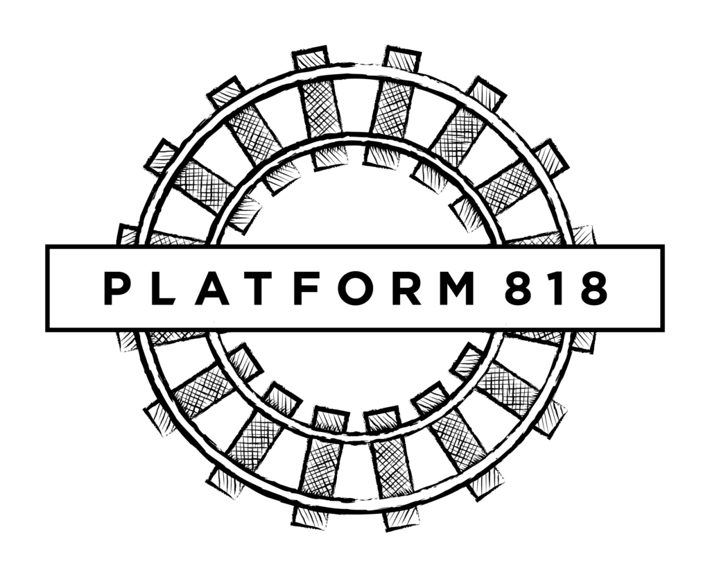 Platform 818 - Logo - Black