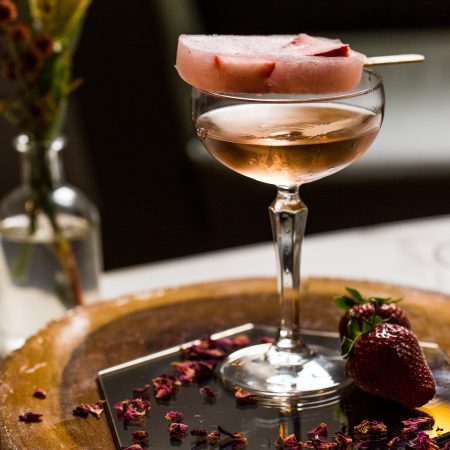 1889 Dry Rosé paired with Rosé popsicle